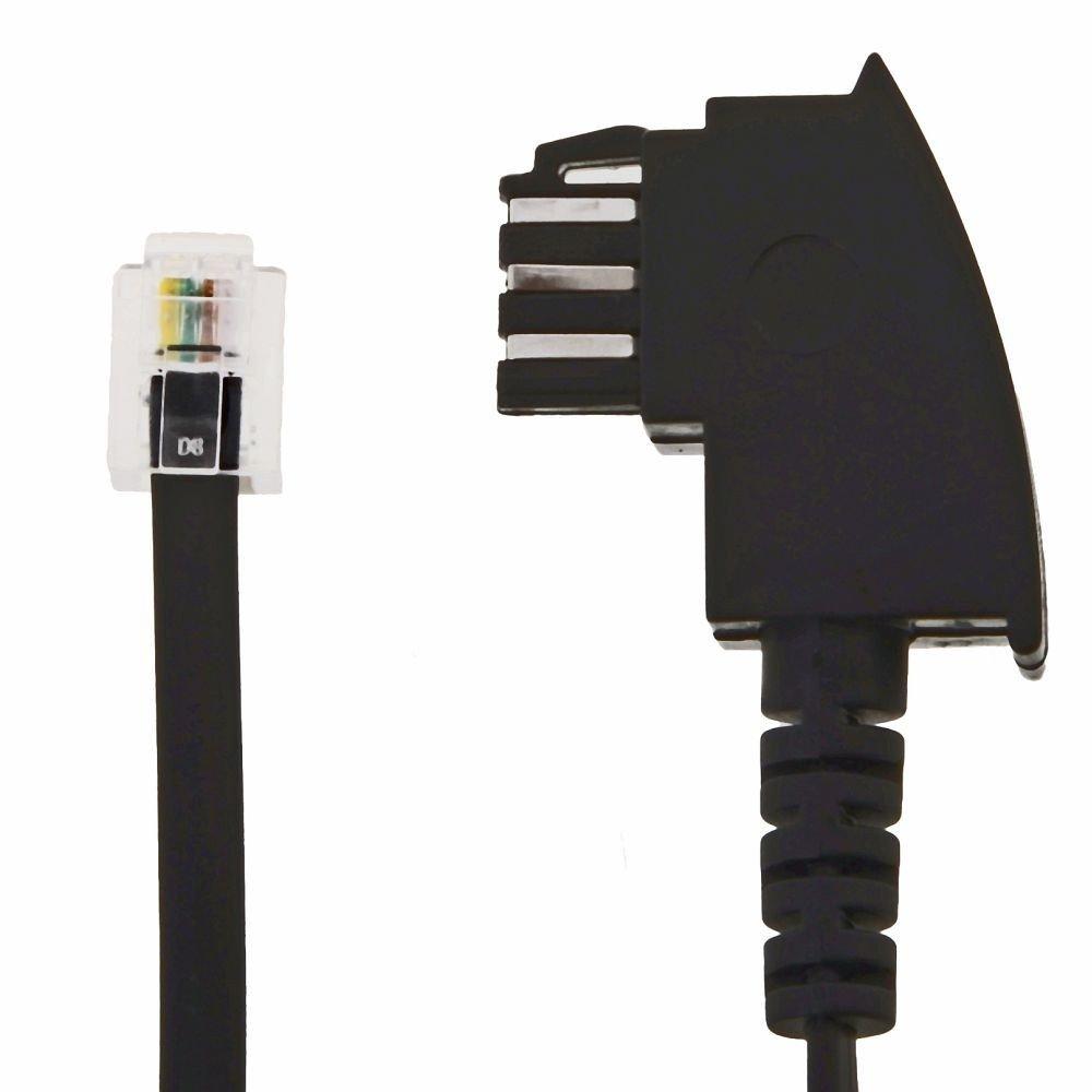 20m telefon kabel tae f stecker rj12 stecker 6p4c anschlusskabel telefonkabel ebay. Black Bedroom Furniture Sets. Home Design Ideas
